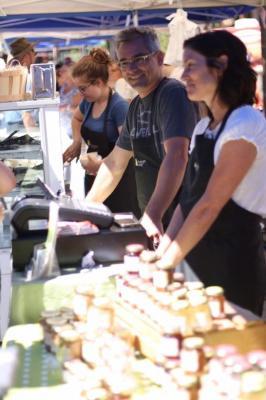Les Fromages du Verger, Les Épices gourmandes et L'érablière du Sanglier le Marché du Vieux St-Eusta